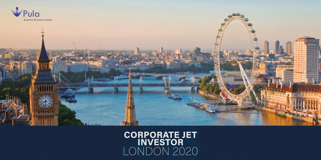Picture of corporate jet investor 2020 london twitter centreline.