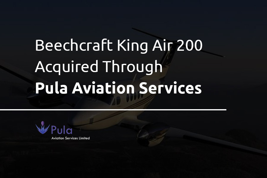Beechcraft King Air 200 acquired through Pula Aviation Services