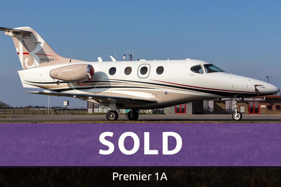 Picture of beechcraft premier 1a sold with pasl feat premier 1a.